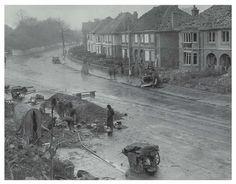 Bomb damage at Roath Court, Newport Road, Cardiff, 1941