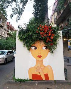 Art Painting, Public Art, Wall Painting, Graffiti Art, Land Art, Street Art Graffiti, Creative Art, Garden Art, Beautiful Art