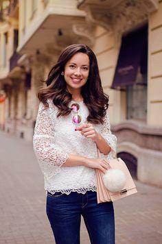 Cómo combinar un top de encaje blanco en tu look  : MartaBarcelonaStyle's Blog