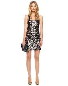 My NYE dress! MICHAEL Michael Kors  Sleeveless Paillette Dress.