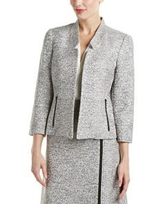 Kasper Women's Tweed Flyaway Jacket, Grey Frost Multi, 10 ** Click image to review more details.