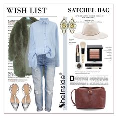 """SheIn - How to wear Satchel Bag"" by stylemeup-649 ❤ liked on Polyvore featuring mode, Paul & Joe, H&M, Victoria, Victoria Beckham, rag & bone, Bobbi Brown Cosmetics et Claudia Baldazzi"