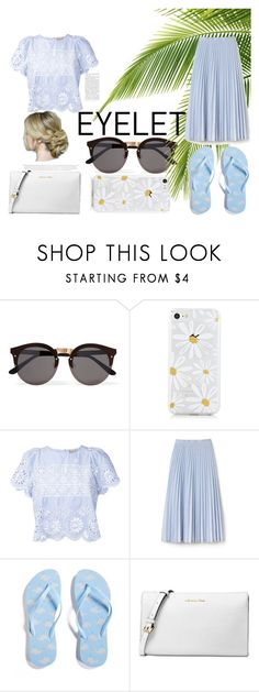 Summer Set #5 by sandstormthenerd on Polyvore featuring Sea, New York, Lacoste, Forever 21, Michael Kors, Illesteva and eyelet