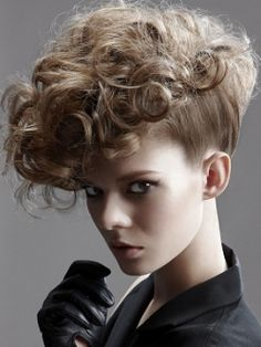 and short curly hair styles: The best cuts for curls Curly hairstyles - long curly hair styles by Mark WoolleyCurly hairstyles - long curly hair styles by Mark Woolley Curly Mohawk Hairstyles, Short Curly Hairstyles For Women, Curly Hair Updo, Pompadour Hairstyle, Mohawk Updo, Layered Hairstyles, Volume Hairstyles, Long Mohawk, Hairstyles Haircuts