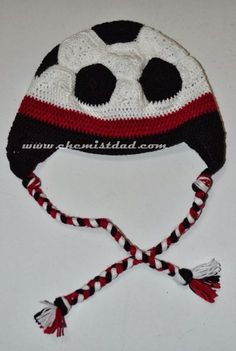 Our Family Blogs About....: Crochet Soccer Ball Hat Pattern
