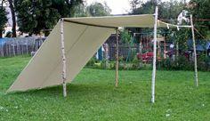 Sonnensegel 3 x 6 m LARP FLY Segel Reenactment Lagerplane Mittelalter Zelt frame tent Ritter: Amazon.de: Sport & Freizeit