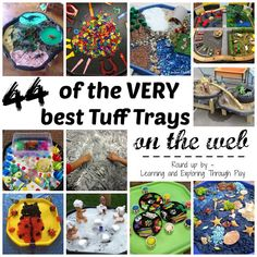Learning and Exploring Through Play: 44 Tuff Spot Play Ideas Sensory Bins, Sensory Activities, Sensory Play, Preschool Activities, Sensory Table, Motor Activities, Play Based Learning, Learning Through Play, Preschool Learning