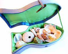 Fish Seashell Box, Nautical Beach Ocean Seashore Decor