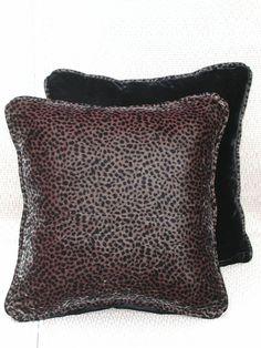 Velvet Animal Print Pillow Set