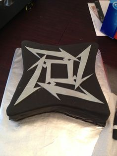 I was asked to make a Metallica themed cake for a rehearsal dinner by an old friend from college.  I don't really know much about Metallic...