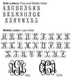 "Vine Monogram Font - ""test drive"" to generate"