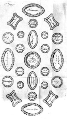 """Elizabeth Raffald, """"Directions for a Grand Table,"""" illustration from """"The Experienced English Housekeeper"""" (Manchester: Printed by J. Harrep, 1769), p. 361"""