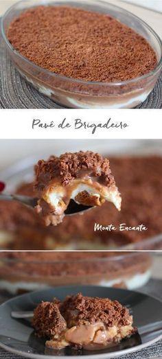 Pavê de Brigadeiro, feito com ingredientes gostosos e simples que normalmente temos em casa. Receita econômica e eclética a montagem tanto pode ser feita com bolachas quanto com sobras de …