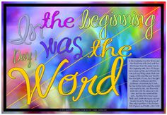 In the beginning was the Word - John 1 - free printable Bible poster for kids