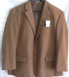 Boca Classics Blazer Brown Sport Coat Men's Size 48R Two button Style #BocaClassics #TwoButton