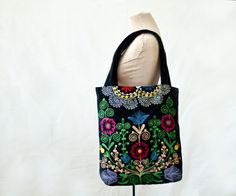 embroidered velour bag suzani bag large tote от MulberryWhisper #large #tote
