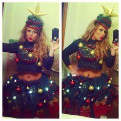 christmas tree costume diy original snow globe costume that really snows