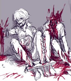 Bloody anime boys Guro