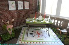Cute table and rug