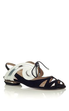 Shop Nicholas Kirkwood Black Flat Sandal at Moda Operandi