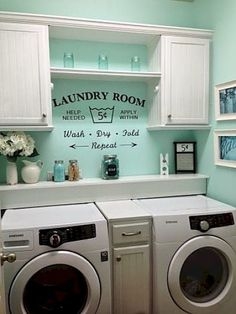 15. Paint Your Laundry Room