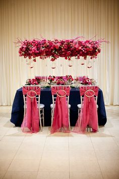 hot pink and navy... Find the wedding planner that make this happen ~ http://www.pittsburghwedding.com/vendor-directory/category/wedding-planners-in-pittsburgh-pa/