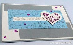 """#Karte """"Auf den ersten Blick"""" für #Seelenverwandte - vielleicht zur #Hochzeit?   http://eris-kreativwerkstatt.blogspot.de/2017/01/karte.html  #stampinup #teamstampingart"""
