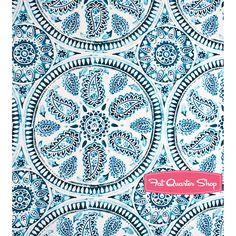 Kyani Blue Kyani Medallion Fat Quarter Shop Laundry Room Curtains, Fat Quarter Shop, Kit, Quilt Patterns, Paisley, Quilts, Sewing, Zentangle, Projects
