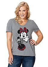 Minnie Mouse Print T-Shirt