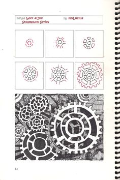 Geer pattern (molossus, who says Life Imitates Doodles) Tags: zentangle tanglepatterns tangleorganizers Doodles Zentangles, Tangle Doodle, Zentangle Drawings, Zen Doodle, Doodle Drawings, Doodle Art, Doodle Patterns, Zentangle Patterns, How To Draw Patterns