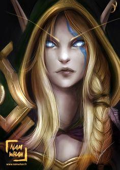 Alleria Windrunner by Namwhan-K on DeviantArt Warcraft Characters, Fantasy Characters, Warcraft Art, World Of Warcraft, Elven Woman, Dream Guide, Dnd Elves, Blood Elf, High Elf