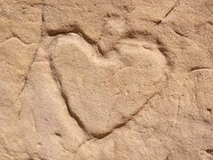 Sandstone, Heart, Love, Texture, Wall