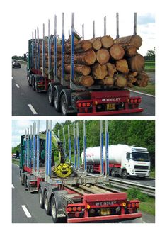 log lorry loaded and empty C8 RDM