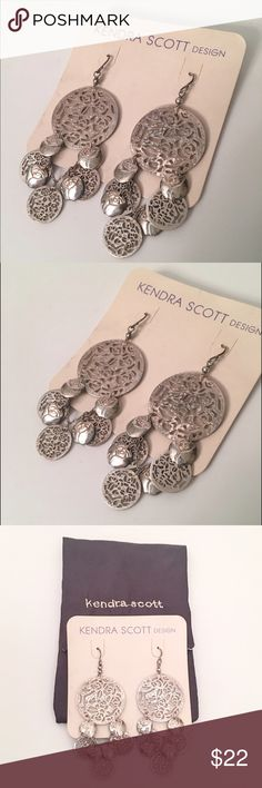 Kendra Scott Sterling Silver earrings Sterling Silver earrings by Kendra Scott. Purchased from Neiman Marcus for $120. In great condition and comes in silk lined pouch shown in pictures. Will consider reasonable offers. Kendra Scott Jewelry Earrings