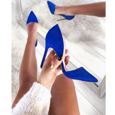 Γόβα Jenny suede μπλε Heels, Fashion, Heel, Moda, La Mode, Pumps Heels, Fasion, Shoes Heels, Fashion Models