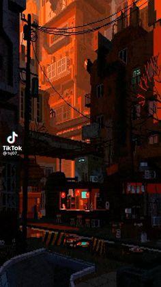 City Aesthetic, Aesthetic Anime, Aesthetic Backgrounds, Aesthetic Wallpapers, Art Vaporwave, Pixel Art Gif, Pixel Pixel, Pixel Art Background, Arte 8 Bits