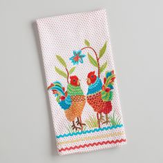 Two Roosters Tea Towel | World Market