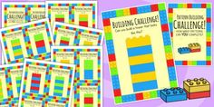Building Brick Pattern Challenge Cards - bricks, toy, patterns, game, cards-for TEACCH workstation Math Patterns, Brick Patterns, Printable Images, Printable Cards, Ks1 Classroom, Lego Faces, Math Blocks, Lego Blocks, Icebreaker Activities