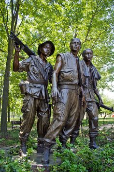 """Thought this bronze statue of Viet Nam soldiers ant he """"Wall"""" in D.C. very realistic when I saw it the first time.  Almost looks like they could speak to you."""