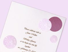 Purple polka dot invite - simple, different, and easy! Free template and instructions