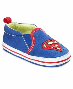 Superheroes Baby Shoes, Baby Boys Superman or Batman Layette Shoes
