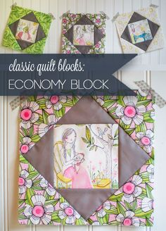 Classic Blocks: Fresh Fabric for March... the Economy Block — SewCanShe | Free Daily Sewing Tutorials