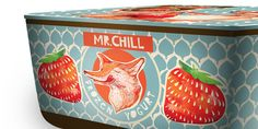 Mr. Chill frozen yogurt, via The Dieline. I love the colors, the handmade feel (especially the text), the patterning... and I won't lie, the combination of fox+strawberries brings back wonderful childhood memories.