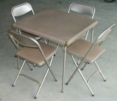 Samsonite Folding Card Table And Chairs Set
