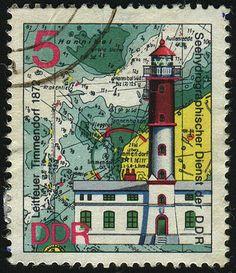 German Stamp - Green Sailcloth Print