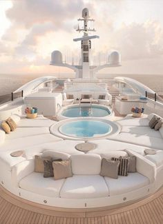 Today we will tell you about the most expensive yachts in the world. These beautiful vessels are built with the latest technology and of course incredibly luxurious. Their owners are very wealthypelorus yacht interior design Luxury Yacht Interior, Boat Interior, Interior Photo, Interior Design, Private Jet Interior, Yacht Design, Boat Design, Vacation Places, Dream Vacations