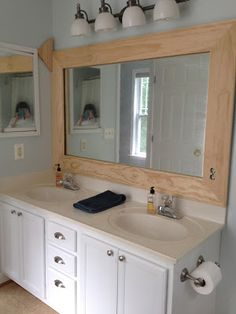 My First Kreg Jig® Project: Wooden Bathroom Mirror Frame