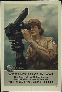 Recruiting for the Women's Army Corps, Weather Observer in the Army Air Forces.