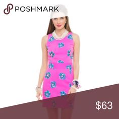 """Lilly Pulitzer Kirkland Dress in Mambo Pink Fitted Shift Dress With A Cut Out Back Detail. 20"""" from Natural Waist to Hem. Textured Cotton Blend (80% Cotton, 20% Viscose). Hand Wash Cold. Imported. Style #: 58712 Lilly Pulitzer Dresses"""
