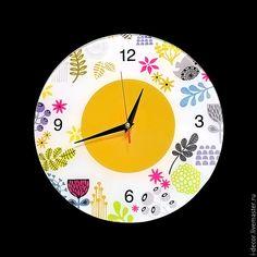 Настенные часы в детскую. Коллаж, детские часы.